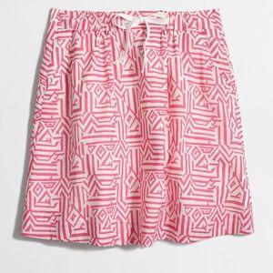 J. Crew drawstring skirt In Jacquard print